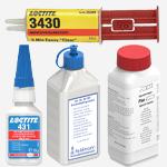 Edelstahl-Kleber, Reiniger und Pflegemittel