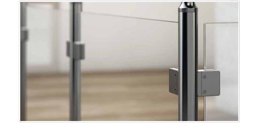 glasbefestigungs systeme f r glaselemente glasklemmen. Black Bedroom Furniture Sets. Home Design Ideas