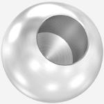 Edelstahl-Vollkugeln mit Sachkloch