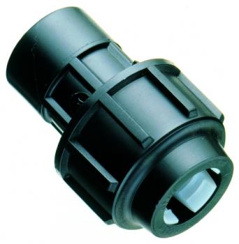 PP Kupplung mit IG 25mm x 3/4 Zoll