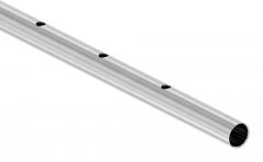 Rohr ø 33,7 x 2,0mm, gerade gelocht, Länge: 3000mm, aus V2A Edelstahl geschliffen
