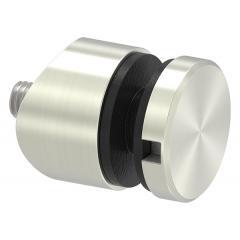 Glas-Punkthalter ø 30mm für Glas 6,0-12,76mm, Anschluss ø 42,4mm, Zinkdruckguss Edelstahleffekt