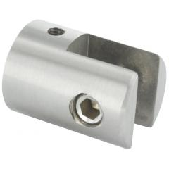 Glasplattenhalter, mit Anschluss für ø 42,4 x 2mm Rohr, für 4-10,76mm Glas