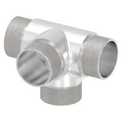 T-Stück mit seitlichem Abgang, zum Stecken, für Rohr 42,4 x 2,0mm