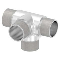 T-Stück mit seitlichem Abgang, zum Stecken, für Rohr 33,7 x 2,0mm