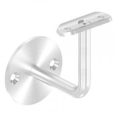 Handlaufhalter zur Wandbefestigung mit verschrauber Ronde 70 x 4mm, für Rohr ø 42,4mm