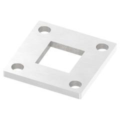 Ankerplatte 92 x 92mm, Stärke 8mm, mit vier ø 11mm Bohrungen, für Rohr 40 x 40mm, einseitig geschliffen