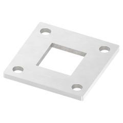 Ankerplatte 92 x 92mm, Stärke 6mm, mit vier ø 11mm Bohrungen, für Rohr 40 x 40mm, einseitig geschliffen