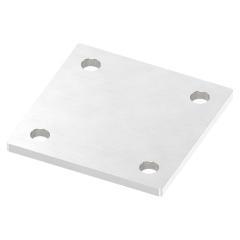 Ankerplatte 100 x 100mm, Stärke 6mm, mit vier ø 11mm Bohrungen, einseitig geschliffen