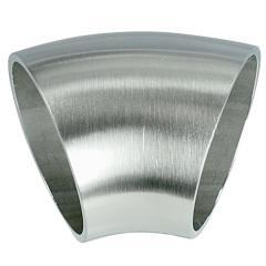 45° Bogen zum Anschweißen, für Rohr ø 33,7mm, Wandstärke 2,0mm, geschliffen