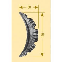 Barockteil-Meisterbarock, Stab-Material 3 mm, 140mm hoch, 60mm breit, zum Verschweißen