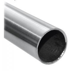 Rohr ø 33,7 x 2,0mm, Länge: 3000mm, aus V2A Edelstahl geschliffen