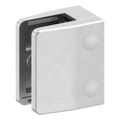 Glasklemme Modell 35, mit AbZ, flacher Anschluss, V4A für 10,00mm Glas