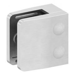 Glasklemme Modell 14, flacher Anschluss, V2A für 10,00mm Glas