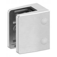 Glasklemme Modell 39, mit AbZ, flacher Anschluss, V4A für 20,76mm Glas