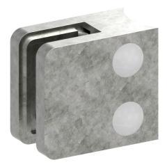 Glasklemme Modell 11, Anschluss für ø 42,4mm Rohr, Zinkdruckguss roh für 10,76mm Glas