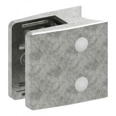 Glasklemme Modell 39, mit AbZ, Anschluss für ø 48,3mm Rohr, Zinkdruckguss roh, für 20,76mm Glas
