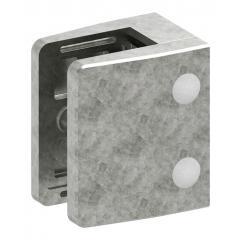Glasklemme Modell 39, mit AbZ, flacher Anschluss, Zinkdruckguss roh, für 21,52mm Glas