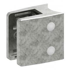 Glasklemme Modell 39, mit AbZ, Anschluss für ø 60,3mm Rohr, Zinkdruckguss roh, für 20,76mm Glas
