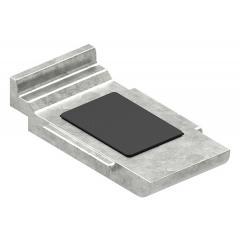 Sicherungsboden für Glasklemme Modell 39, in Zinkdruckguss roh