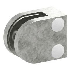 Glasklemme Modell 30, mit AbZ, flacher Anschluss, Zinkdruckguss roh, für 6,00mm Glas