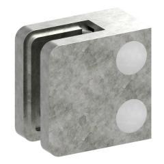 Glasklemme Modell 11, flacher Anschluss, Zinkdruckguss roh für 10,00mm Glas