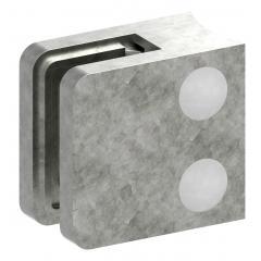 Glasklemme Modell 11, Anschluss für ø 33,7mm Rohr, Zinkdruckguss roh für 6,00mm Glas