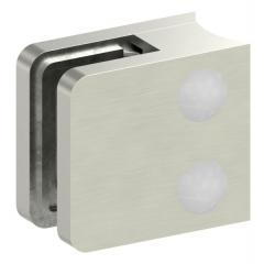 Glasklemme Modell 11, Anschluss für ø 33,7mm Rohr, Zinkdruckguss Edelstahleffekt für 6,00mm Glas