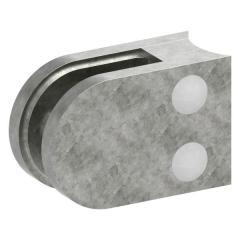 Glasklemme Modell 12, Anschluss für ø 33,7mm Rohr, Zinkdruckguss roh für 9,52mm Glas