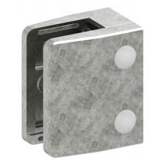 Glasklemme Modell 35, mit AbZ, flacher Anschluss, Zinkdruckguss roh für 10,00mm Glas