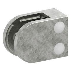 Glasklemme Modell 38, mit AbZ, flacher Anschluss, Zinkdruckguss roh, für 10,00mm Glas