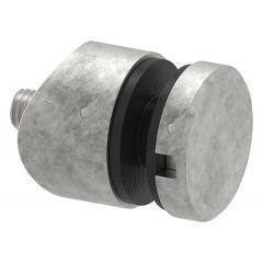 Glas-Punkthalter ø 30mm für Glas 6,0-12,76mm, Anschluss ø 42,4mm, Zinkdruckguss roh
