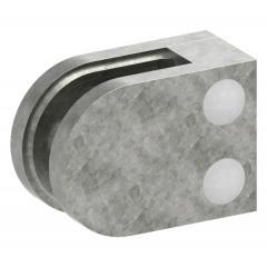 Glasklemme Modell 12, flacher Anschluss, Zinkdruckguss roh für 6,00mm Glas