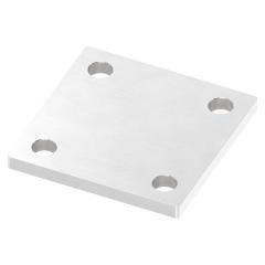 Ankerplatte 100 x 100mm, Stärke 8mm, mit vier ø 11mm Bohrungen, einseitig geschliffen
