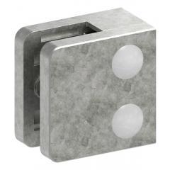 Glasklemme Modell 31, mit AbZ, flacher Anschluss, Zinkdruckguss roh, für 6,00mm Glas
