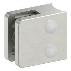 Glasklemme Modell 31, mit AbZ, Anschluss für ø 33,7mm Rohr, Zinkdruckguss Edelstahleffekt, für 8,00mm Glas
