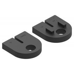 Gummieinlage für Glasklemme Modell 32, für 2mm Blech