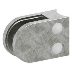 Glasklemme Modell 32, mit AbZ, Anschluss für ø 33,7mm Rohr, Zinkdruckguss roh, für 8,00mm Glas