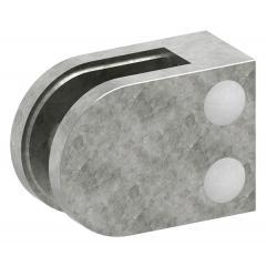 Glasklemme Modell 32, mit AbZ, flacher Anschluss, Zinkdruckguss roh, für 6,00mm Glas
