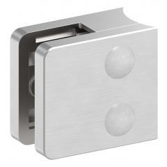 Glasklemme Modell 31, mit AbZ, Anschluss für ø 33,7mm Rohr, V4A für 8,00mm Glas
