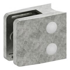 Glasklemme Modell 34, mit AbZ, Anschluss für ø 42,4mm Rohr, Zinkdruckguss roh, für 10,76mm Glas