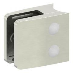 Glasklemme Modell 34, mit AbZ, Anschluss für ø 42,4mm Rohr, Zinkdruckguss Edelstahleffekt, für 12,00mm Glas