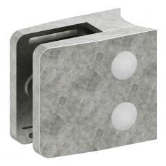 Glasklemme Modell 34, mit AbZ, Anschluss für ø 48,3mm Rohr, Zinkdruckguss roh, für 10,76mm Glas