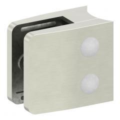 Glasklemme Modell 34, mit AbZ, Anschluss für ø 48,3mm Rohr, Zinkdruckguss Edelstahleffekt, für 8,76mm Glas