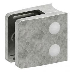 Glasklemme Modell 34, mit AbZ, Anschluss für ø 60,3mm Rohr, Zinkdruckguss roh, für 10,00mm Glas