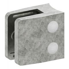 Glasklemme Modell 34, mit AbZ, Anschluss für ø 76,1mm Rohr, Zinkdruckguss roh, für 10,00mm Glas