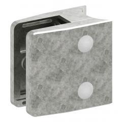Glasklemme Modell 35, mit AbZ, Anschluss für ø 42,4mm Rohr, Zinkdruckguss roh, für 8,00mm Glas