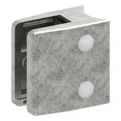 Glasklemme Modell 35, mit AbZ, Anschluss für ø 60,3mm Rohr, Zinkdruckguss roh, für 10,00mm Glas