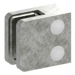 Glasklemme Modell 11, Anschluss für ø 42,4mm Rohr, Zinkdruckguss roh für 9,52mm Glas