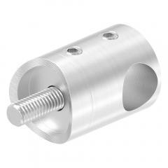 Querstabhalter Anschluss für ø 42,4mm Rohr, für Stab ø 12 mm, aus V2A